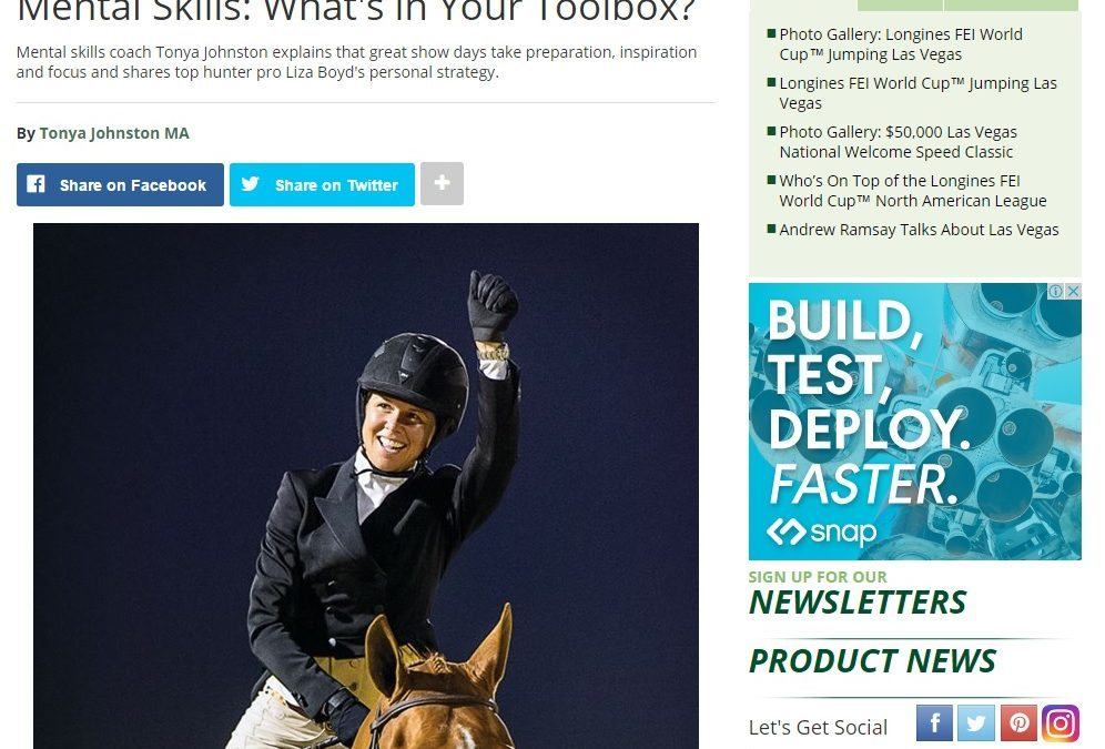 Practical Horseman Column: What's in your Mental Skills Toolbox?