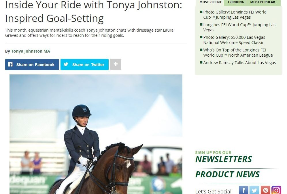 Practical Horseman Column: Tonya on Inspired Goal-Setting