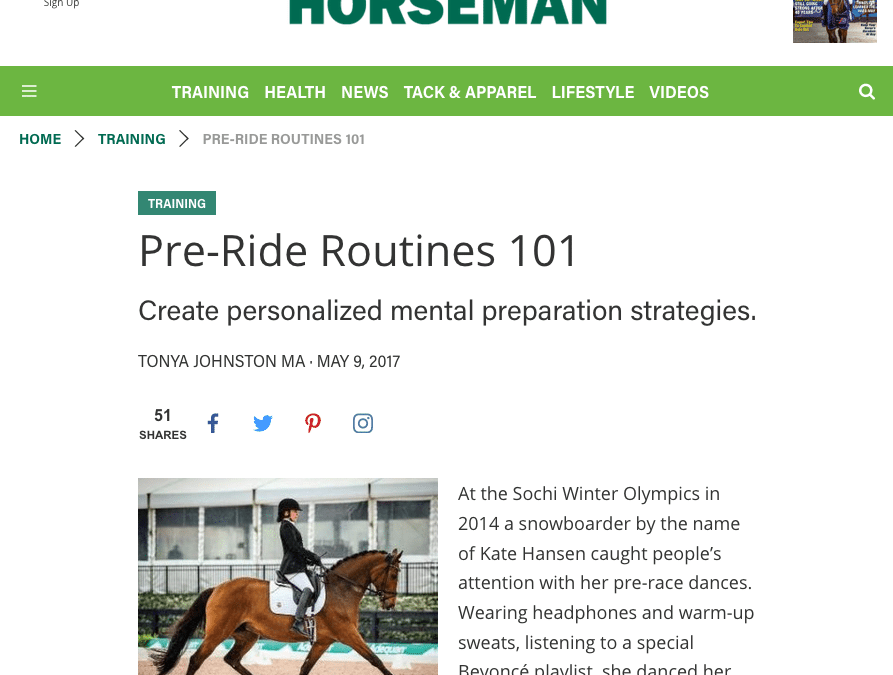 Practical Horseman Column: Pre-Ride Routines 101
