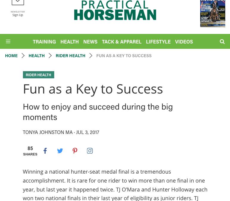 Practical Horseman Column: Fun as a Key to Success
